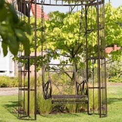 Leagan de gradina Romantic Garden din metal maro 135x275 cm
