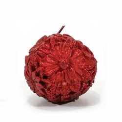 Lumanare Flora rosie 8 cm