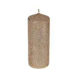 Lumanare Glitter Gold din parafina 18 cm
