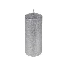 Lumanare Silver Glitter 18 cm