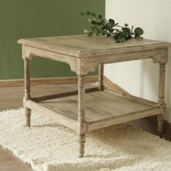 Masa joasa Oksa din lemn gri 60x60x50 cm