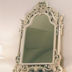 Oglinda Romance White gold 90x135 cm