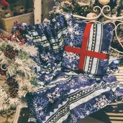 Patura Blue Christmas 150x200 cm