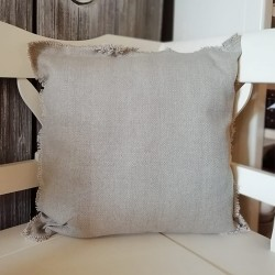 Perna Farmhouse din bumbac maro 45x45 cm