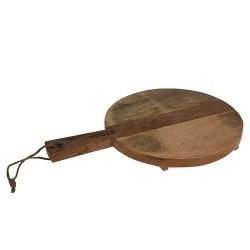 Platou Mango din lemn natur 28x42 cm