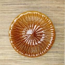 Platou Amber Leaf din ceramica 26 cm