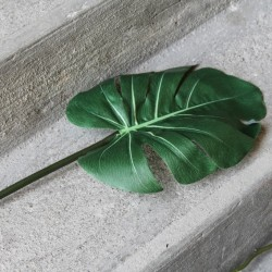 Ramura decorativa Green Leaf 76 cm