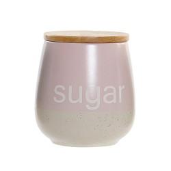 Recipient pentru zahar Italy din ceramica roz 600 ml