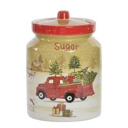 Recipient Winter Sugar din ceramica 17 cm