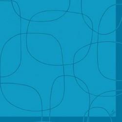 Servetele decorative din hartie albastra cu cercuri 10 buc