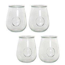 Set 4 pahare Vintage din sticla 10x13 cm