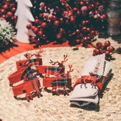 Set 6 inele pentru servetele Reindeer