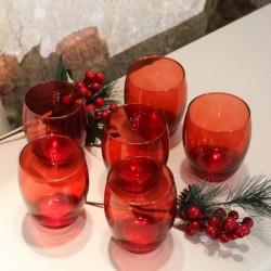 Set cu 6 pahare Reddish din sticla