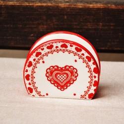 Suport din ceramica alba pentru servetele 9 cm