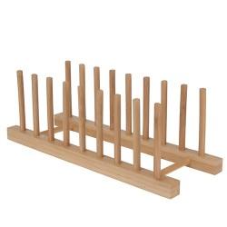 Suport din lemn pentru farfurii 34x12 cm