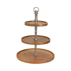 Suport etajat Mango din lemn si metal 40x48 cm