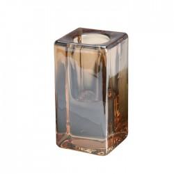 Suport pentru lumanare Amber din sticla 4x8 cm