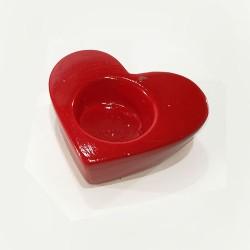 Suport pentru lumanare in forma de inima 9 cm