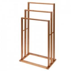 Suport pentru prosoape Bamboo din lemn de bambus 40x25x82cm