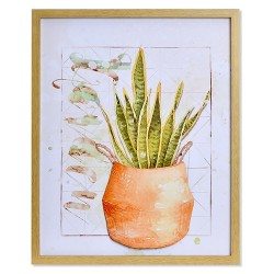 Tablou Aloe din textil 40x50 cm