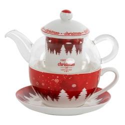 Tea for one Xmas din portelan 14 cm