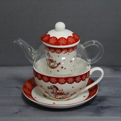 Tea for one Xmas din portelan