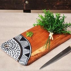 Tocator Boho din lemn 30x17 cm