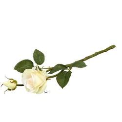 Trandafir decorativ crem 35cm