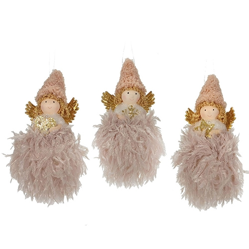 Deco Ingeras roz 16 cm - modele diverse chicville 2021