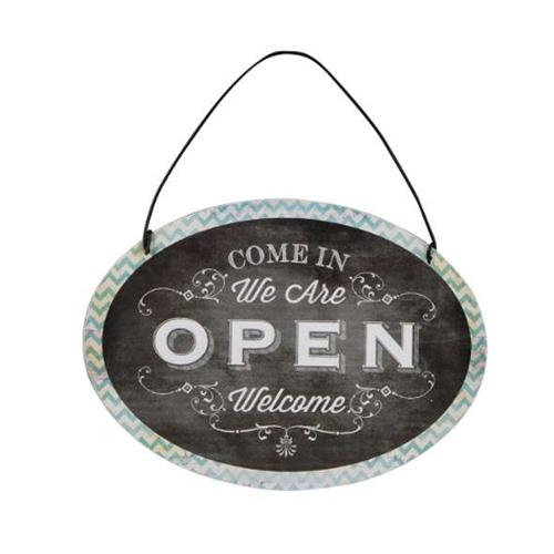 Decoratiune Open & Close din metal 15x11 cm chicville 2021