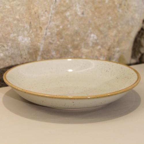 Farfurie adanca Gardena din ceramica crem 23 cm chicville 2021