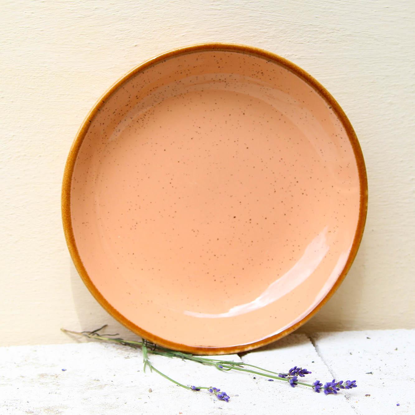 Farfurie adanca Gardena din ceramica corai 23 cm chicville 2021