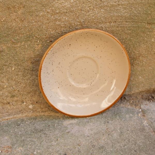 Farfurie pentru ceasca Gardena din ceramica crem 14 cm chicville 2021