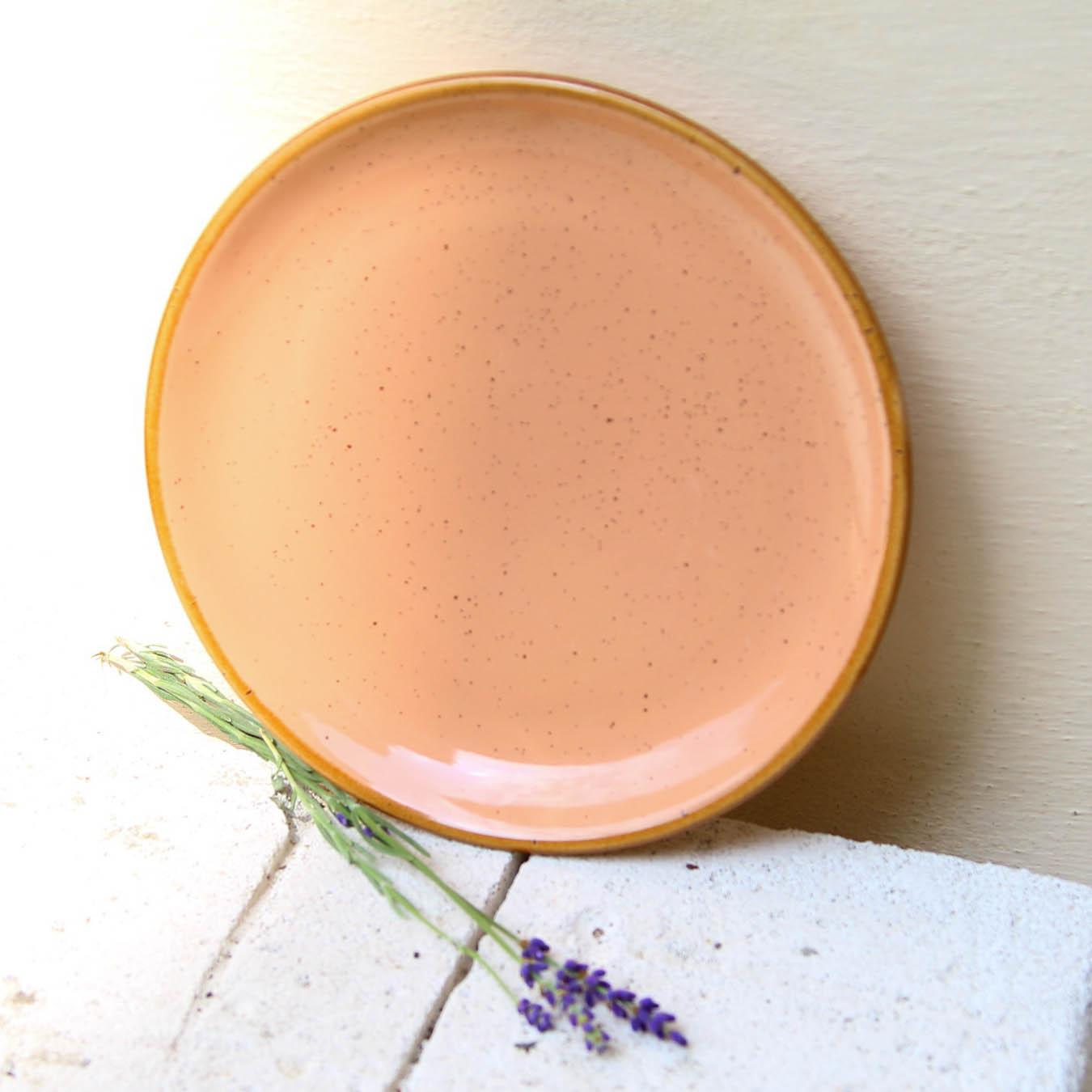 Farfurie de desert Gardena din ceramica corai 20 cm chicville 2021