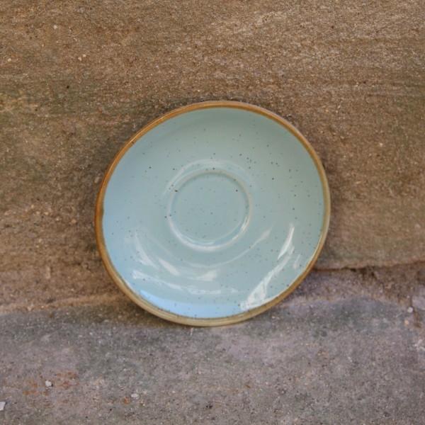 Farfurie pentru ceasca Gardena din ceramica turcoaz 14 cm chicville 2021