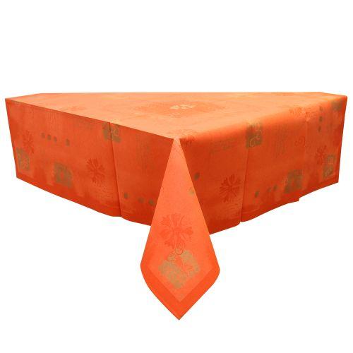 Fata de masa decorativa din hartie portocalie 84x84 cm chicville 2021