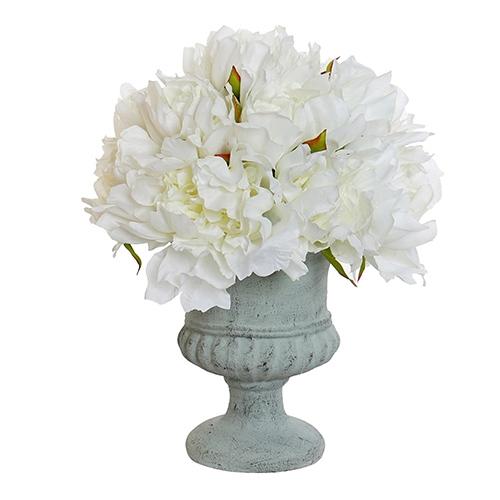 Floare decorativa Blanca in vaza din ceramica 30 cm chicville 2021