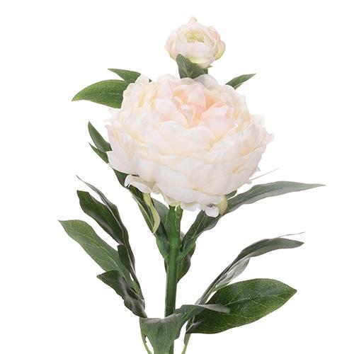 Floare decorativa Bujor alb 61 cm chicville 2021