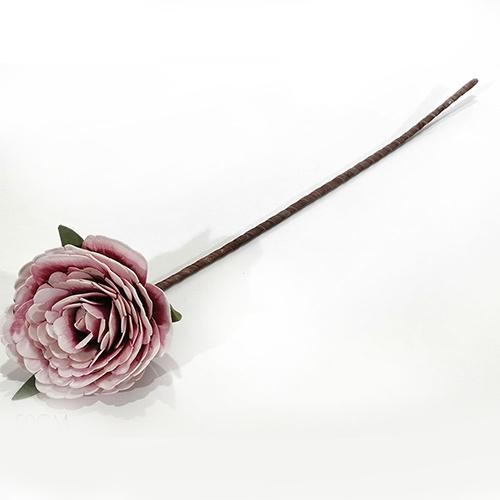 Floare decorativa Bujor roz 50 cm chicville 2021