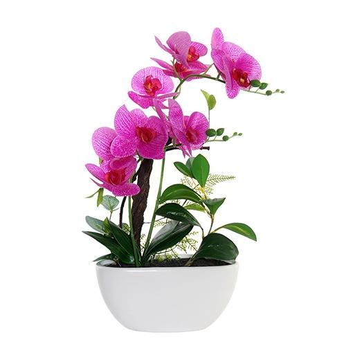 Floare decorativa Orhidee roz 48 cm chicville 2021