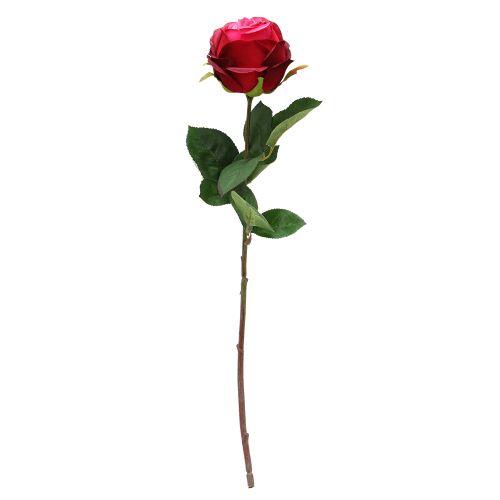 Floare decorativa Trandafir rosu 45 cm( 391893)