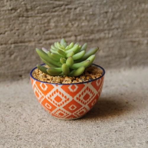 Floare decorativa in ghiveci Orange 9 cm