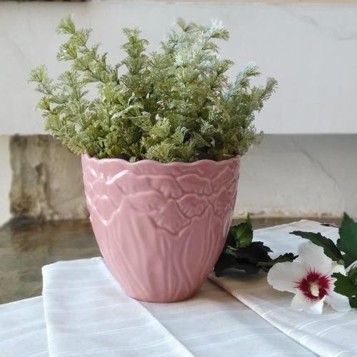 Ghiveci Leaf din ceramica roz 15 cm chicville 2021