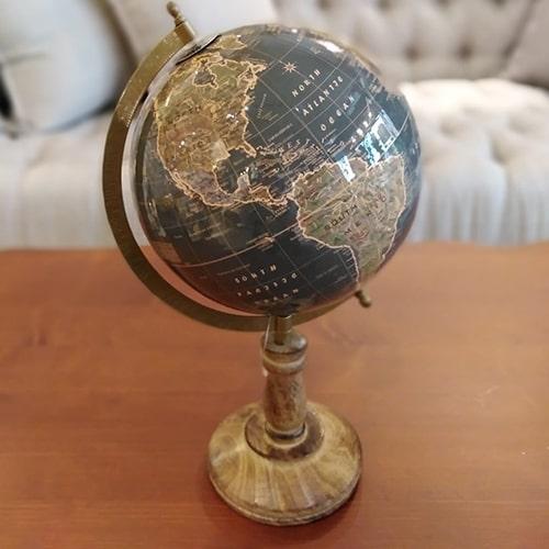 Glob Vintage Terra din lemn 38 cm - modele diverse chicville 2021