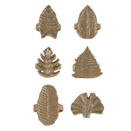 Inel pentru servetel Golden Leaf din metal - diverse modele chicville 2021