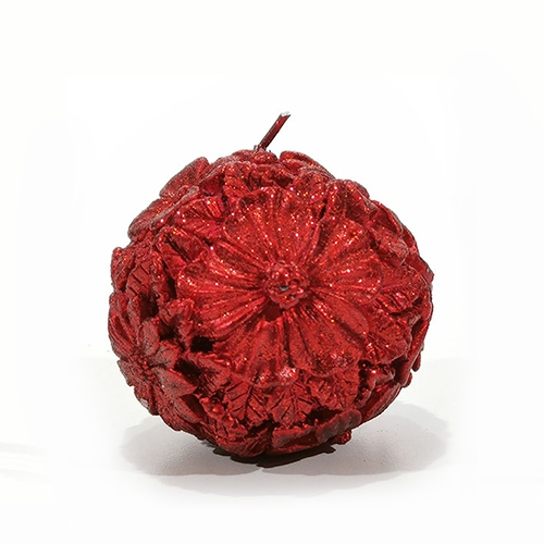 Lumanare Flora rosie 8 cm chicville 2021