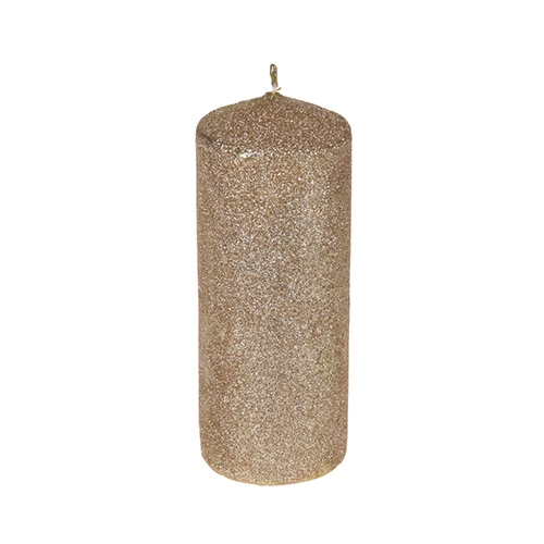 Lumanare Glitter Gold din parafina 18 cm chicville 2021