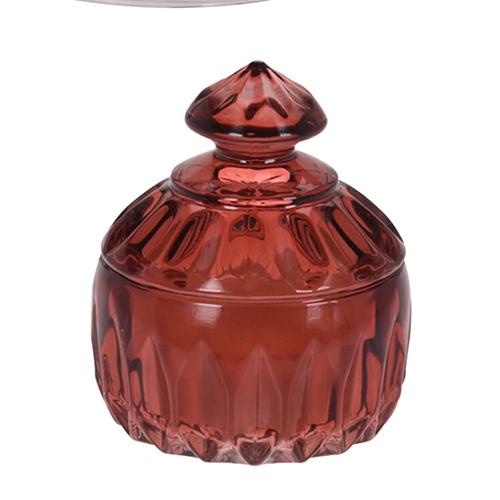 Lumanare Red Jar cu candela din sticla 10 cm chicville 2021