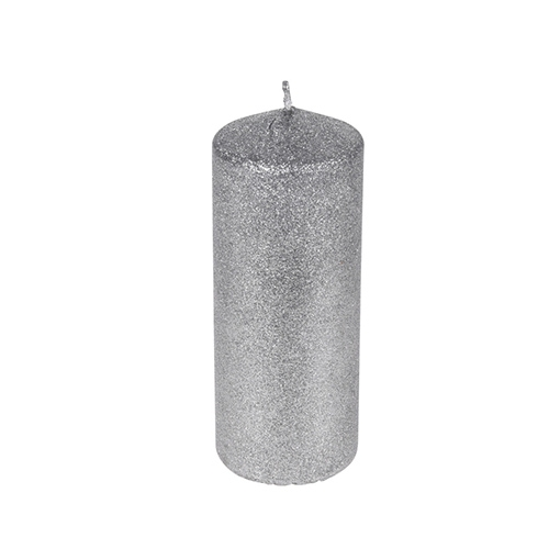 Lumanare Silver Glitter 18 cm chicville 2021