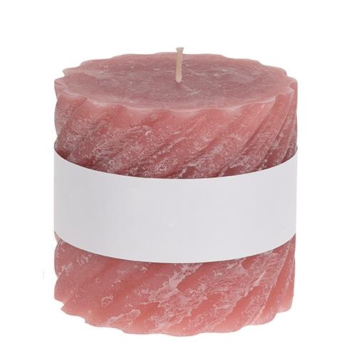 Lumanare Twisted roz 10x9 cm chicville 2021